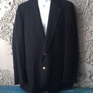 Lands End Black Lined sport suit jacket blazer L